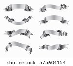 vector ribbon banners.silver... | Shutterstock .eps vector #575604154