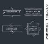 set of vector outline text... | Shutterstock .eps vector #575608570