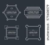 set of vector outline text... | Shutterstock .eps vector #575608579