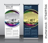 roll up brochure flyer banner... | Shutterstock .eps vector #575609566