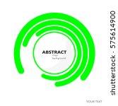 rings  vector  oval  technology ... | Shutterstock .eps vector #575614900