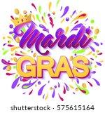 colorful mardi gras carnival... | Shutterstock .eps vector #575615164