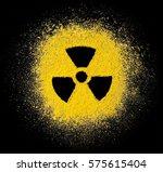 symbol of radiation in the...   Shutterstock . vector #575615404