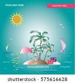 summer vacation | Shutterstock .eps vector #575616628