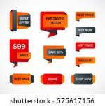 vector stickers  price tag ... | Shutterstock .eps vector #575617156