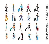 set of young people in clothing ... | Shutterstock .eps vector #575617483