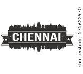 chennai skyline stamp... | Shutterstock .eps vector #575622970