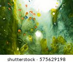 colorful abstract hand painted... | Shutterstock . vector #575629198