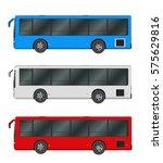 city bus template. passenger... | Shutterstock .eps vector #575629816