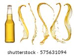 bottle of beer and beer... | Shutterstock . vector #575631094