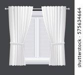 vector white closed shutter... | Shutterstock .eps vector #575634664
