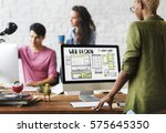web design layout internet... | Shutterstock . vector #575645350