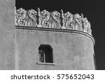 detail of historic adobe...   Shutterstock . vector #575652043