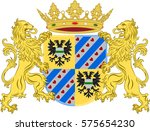 coat of arms of groningen is... | Shutterstock .eps vector #575654230