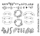 set hand drawn design elements. ...   Shutterstock .eps vector #575656594