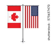 canadian and united states... | Shutterstock .eps vector #575657470