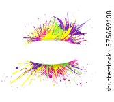 white banner with  vivid and... | Shutterstock .eps vector #575659138