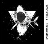 Shark In A Triangle. Abstract...