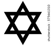 religious sign. judaism. star... | Shutterstock .eps vector #575661310