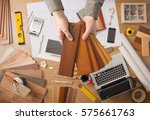 professional interior designer... | Shutterstock . vector #575661763
