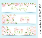 elegant floral collection with... | Shutterstock .eps vector #575661958