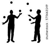 men juggling balls isolated | Shutterstock .eps vector #575663149