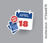 usa tax day reminder concept   ... | Shutterstock .eps vector #575666878