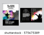 music magazine layout | Shutterstock .eps vector #575675389