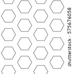seamless pattern with hexagons. ... | Shutterstock .eps vector #575676058