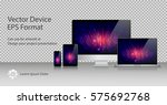 realistic computer monitor ... | Shutterstock .eps vector #575692768