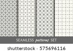 set of seamless geometric line... | Shutterstock .eps vector #575696116