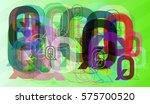q alphabet elements template   Shutterstock .eps vector #575700520