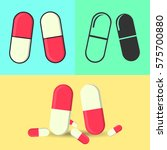 vector drugs icon  pills ... | Shutterstock .eps vector #575700880