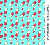 pills pattern. seamless pattern ... | Shutterstock .eps vector #575708968