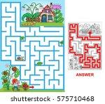 dwarf house. help dwarf to find ... | Shutterstock .eps vector #575710468