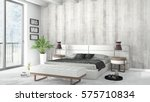 modern bright interior . 3d... | Shutterstock . vector #575710834