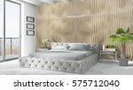 modern bright interior . 3d... | Shutterstock . vector #575712040