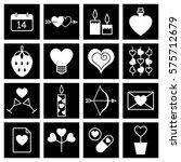 valentine icon set vector... | Shutterstock .eps vector #575712679
