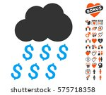 money rain icon with bonus... | Shutterstock .eps vector #575718358