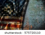 usa flag vintage background | Shutterstock . vector #575720110