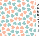 blue and pink hearts seamless... | Shutterstock .eps vector #575729224