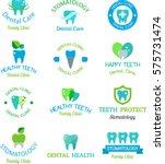 vector dental stomatology... | Shutterstock .eps vector #575731474