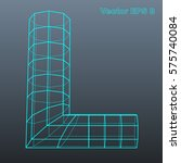 vector letter l stylized... | Shutterstock .eps vector #575740084