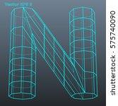 vector letter n stylized... | Shutterstock .eps vector #575740090