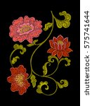 embroidery. embroidered design... | Shutterstock .eps vector #575741644