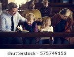 church people believe faith... | Shutterstock . vector #575749153