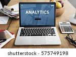 analytics big data analysis...   Shutterstock . vector #575749198