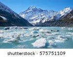 glacier lake with ice blocks...   Shutterstock . vector #575751109
