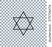 star of david icon vector.... | Shutterstock .eps vector #575756476