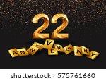 22 years anniversary... | Shutterstock .eps vector #575761660